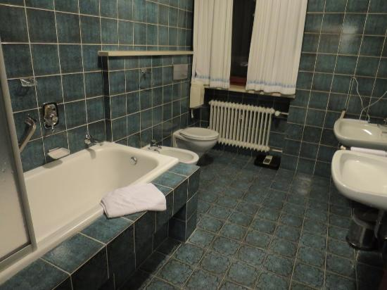Landhotel Reisingers Bayerische Alm: Tiled bathroom with tub