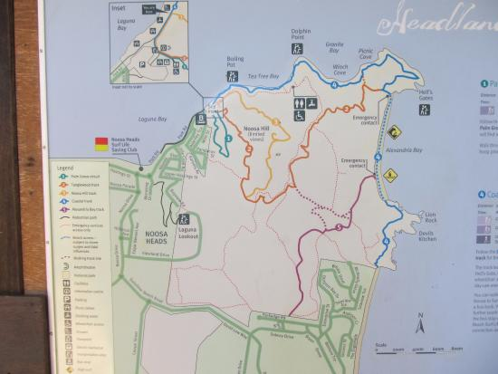 Map of the walk Picture of Noosa National Park Noosa TripAdvisor