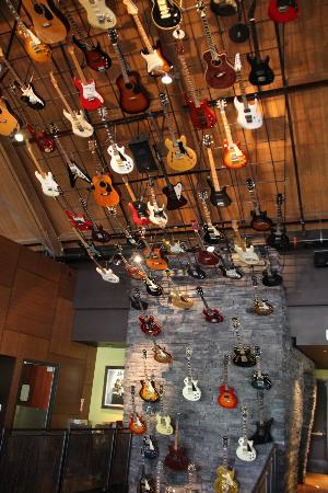 Guitars Up The Staircase And Over The Ceiling Picture Of