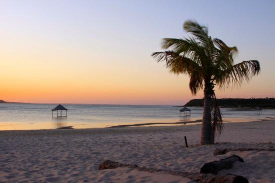 Inharrime, Mozambique: tramonto dalla casa