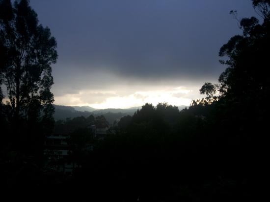 King's Cliff: The Ooty Sky line from lawn