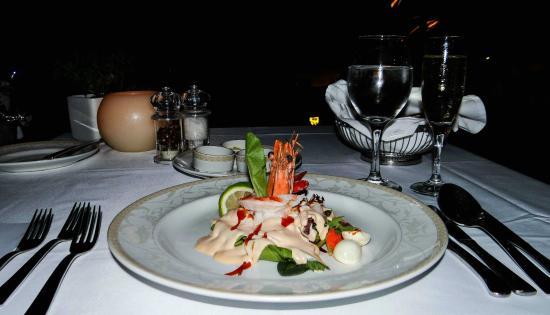 Shrimp cocktail  presentation