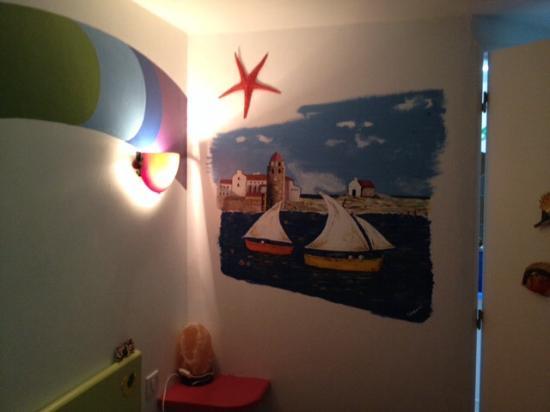 Chambres d'hotes Arcenciel: Bonito mural