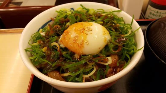 Guesthouse Iki: 加了蔥花的辣味牛丼飯
