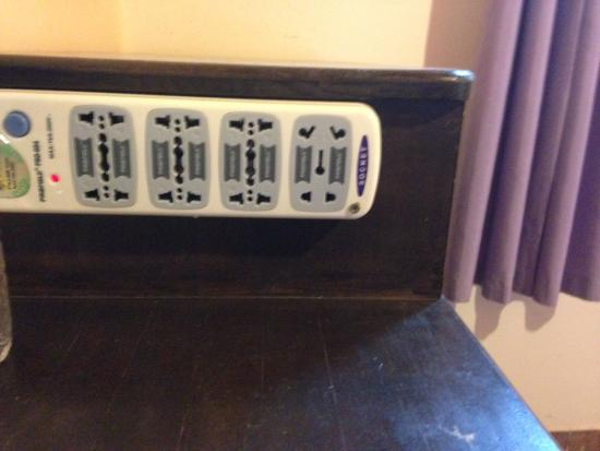 Hostel Bambu Puerto Iguazu : This electrical point is one of the most useful things I've found in a hostel room