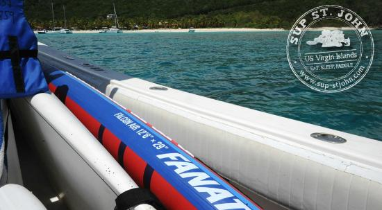 SUP St. John: Inflatable Paddleboards are great for taking on a boat trip
