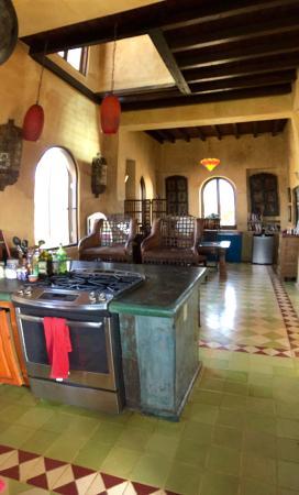 Interior decor/Kitchen area. - Picture of Villa Santa Cruz, Todos ...