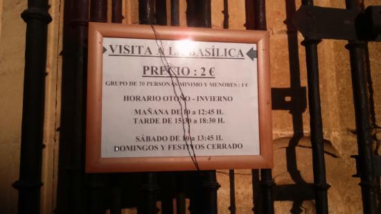 Arcos de la Frontera, Spanien: el horario y precio