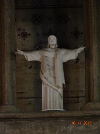 Worcestershire, UK: Folded Paper Christ