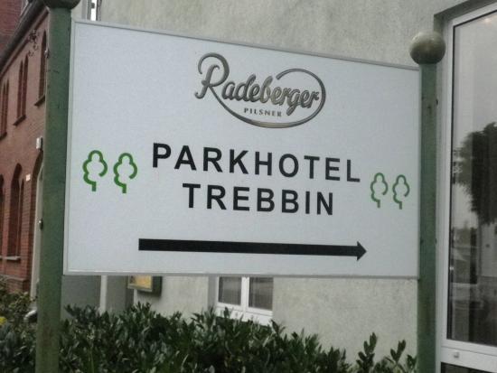 Trebbin, Германия: вывеска отеля