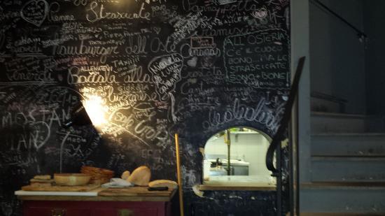 Parete Cucina Lavagna : Fronte cucina, con parete