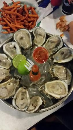 Recommend raw oysters.  Sauces were delish.  Good service. Don't recommend shrimp - it tasted ov