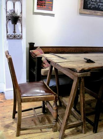 Brackley, UK: An old door for a tabletop - Great character at TGR. (14/Nov/15).