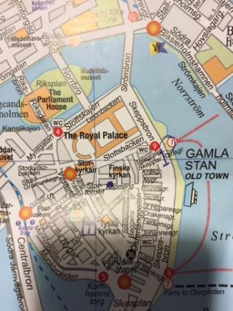 Map Of Gamla Stan Kuva Stockholm Old Town Tukholma Tripadvisor