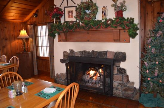Manitowish Waters, WI: Cozy fireplace adds to the ambiance