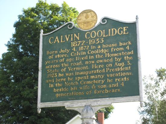 Plymouth, VT: Info about Calvin Coolidge