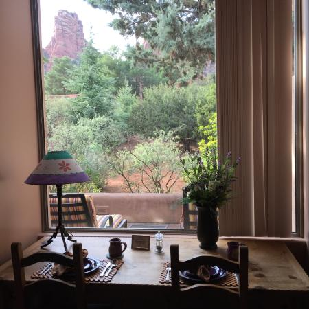 Adobe Village Inn: View from eating area and bedroom/sitting area