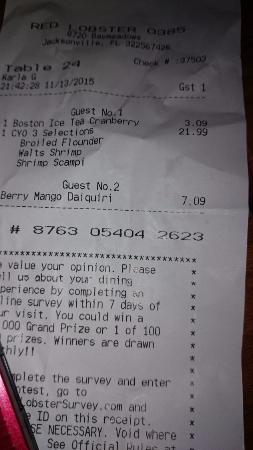 Red Lobster, Jacksonville - 8720 Baymeadows Rd - Menu, Prices & Restaurant Reviews - TripAdvisor