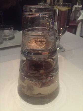 Tre Monti Ristorante : Tiramisu presentation -- dramatic and delicious!