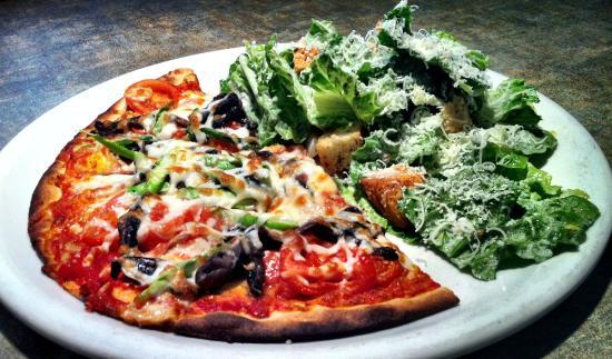 Bonfire Bistro : Lunch Menu Half Pizza and Salad