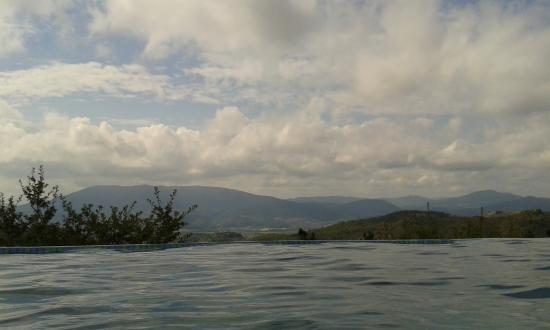 La Cuccagna: View from the infinity pool