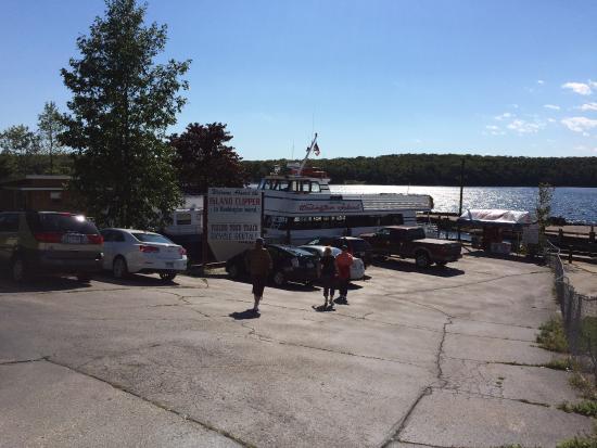 Gills Rock, Wisconsin: Gills Rock dock for the Island Clipper to Washington Island