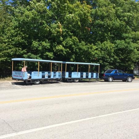Gills Rock, WI: The Viking Train for the guided tour of Washington Island