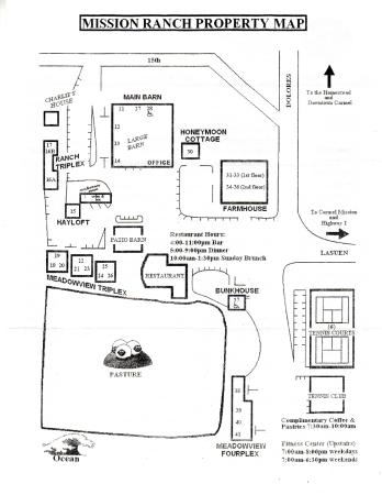 Grounds Map - Picture of Mission Ranch, Carmel - TripAdvisor on