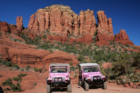 Behind The Madonna Child Rock Picture Of Pink Jeep Tours