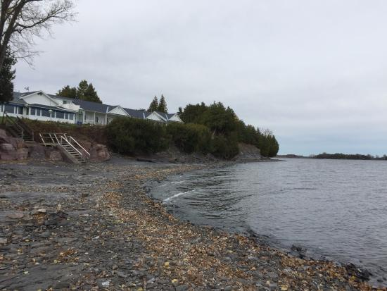 North Hero, VT : Property as seen from beach during low tide