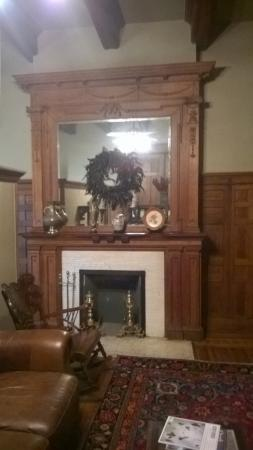 Helena, AR: Fireplace in room with divided sitting/sleeping area