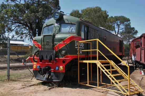 The Railway Museum: one of many diesel locomotives on display
