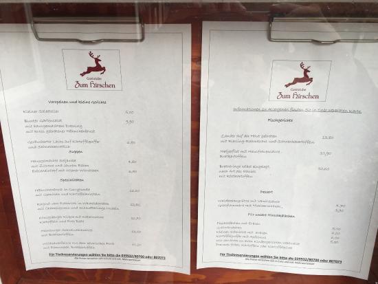 Goehren-Lebbin, Germany: Gaststube Zum Hirschen