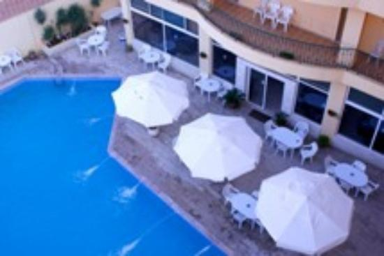 View from rooms to Mariam Hotel Swimming pool