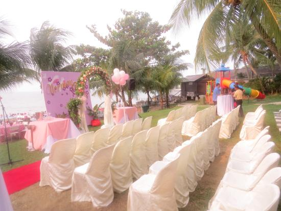 Rainbow Paradise Beach Resort Garden Wedding Setup