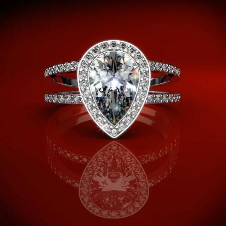 engagement ring pear drop picture of indian arts