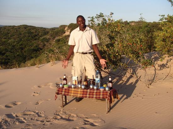Dunes de Dovela eco-lodge: sundowner in the dunes