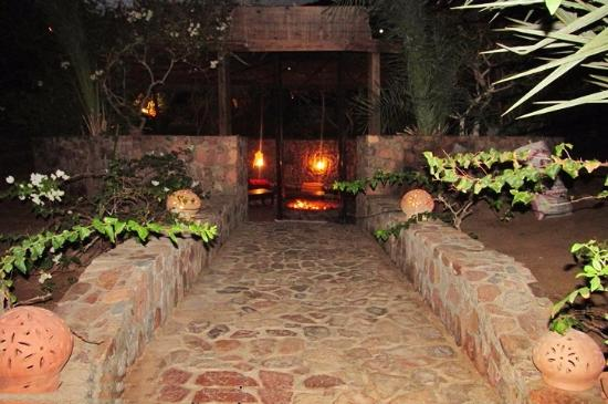 The Bedouin Moon Hotel: This path leads to the pool area