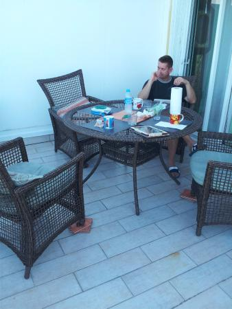Residence Anse des Sables: terrasse