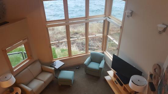 Tofte, MN: View from great room from the top unit