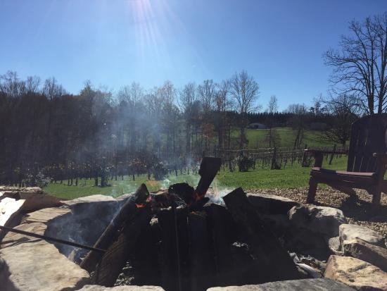 Silver Fork Winery: fire pit