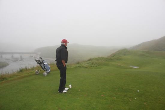Cruden Bay (Port Erroll), UK: Golfing Cruden Bay Golf course on a foggy day