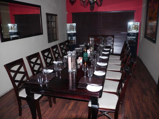 Blu Saffron: One of the dining rooms