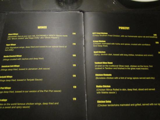 Eye Of The Tiger Pics menu - picture of eye of the tiger, manipal - tripadvisor