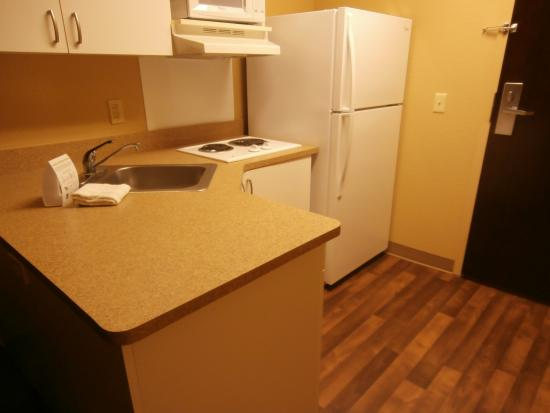 Extended Stay America - Phoenix - Mesa: side view, kitchen area, in room