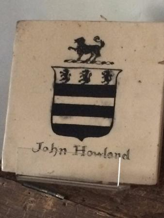 Jabez Howland House: Family Crest of Pilgrim John Howland (father of Jabez)