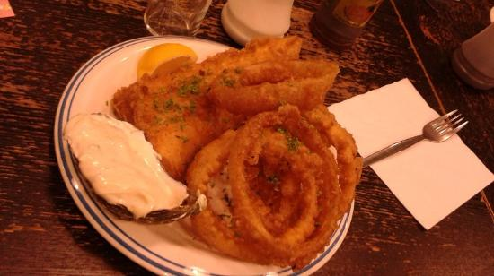 Haddock & Onion Rings, Kettle of Fish, Galway