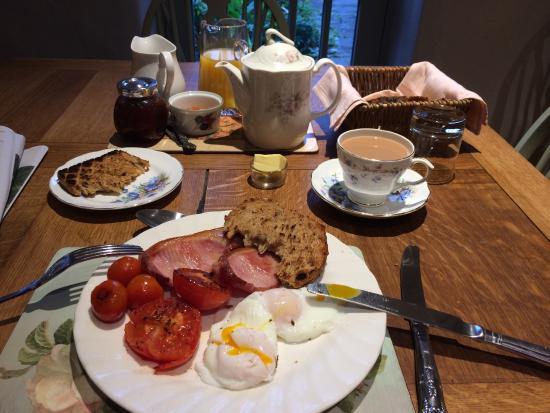 Bonsall, UK: A good breakfast.
