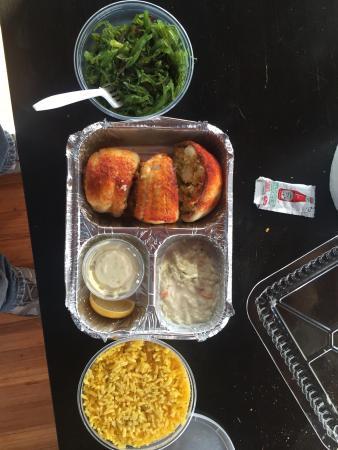 Bayport, estado de Nueva York: Seafood stuffed flounder