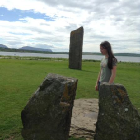 Stenness, UK: Mira amid stones.